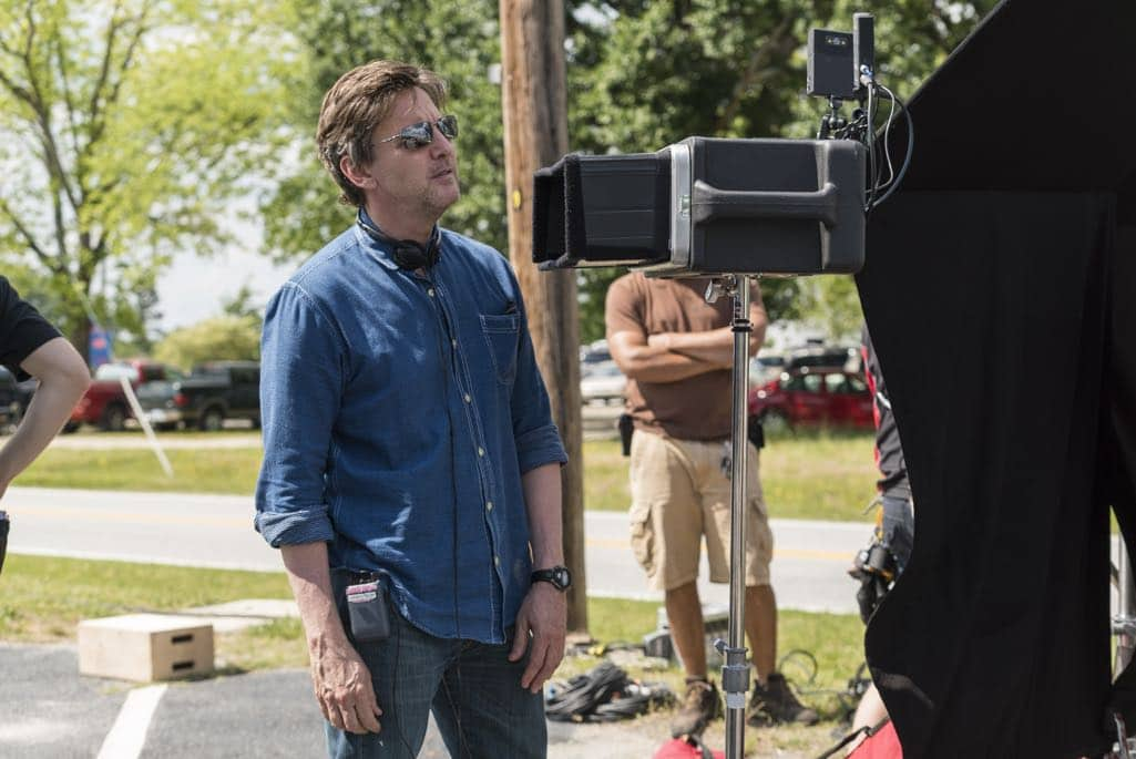BTS, Director Andrew McCarthy- Halt and Catch Fire _ Season 3, Episode 5 - Photo Credit: Tina Rowden/AMC