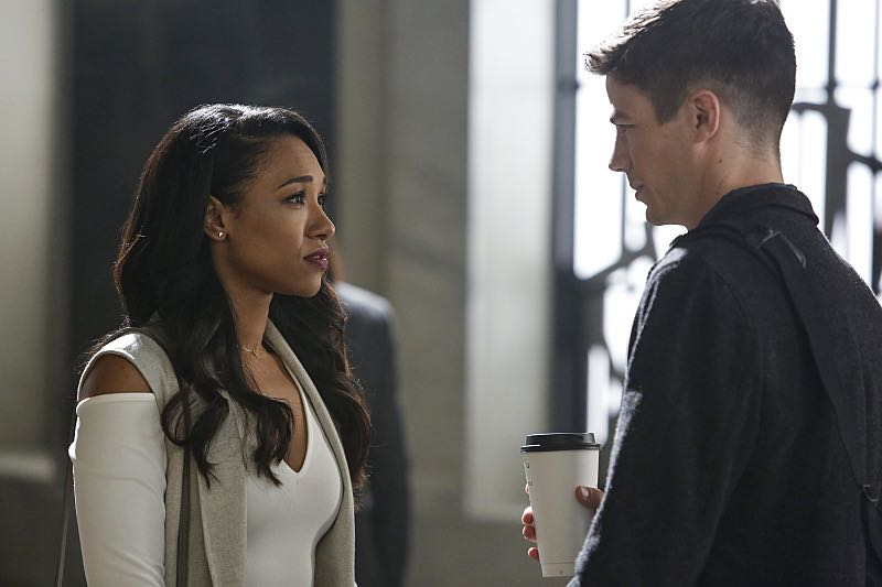 "The Flash -- ""Magenta"" -- Image: FLA303b_0026b.jpg -- Pictured (L-R) Candice Patton as Iris West and Grant Gustin as Barry Allen -- Photo: Bettina Strauss/The CW -- © 2016 The CW Network, LLC. All rights reserved."