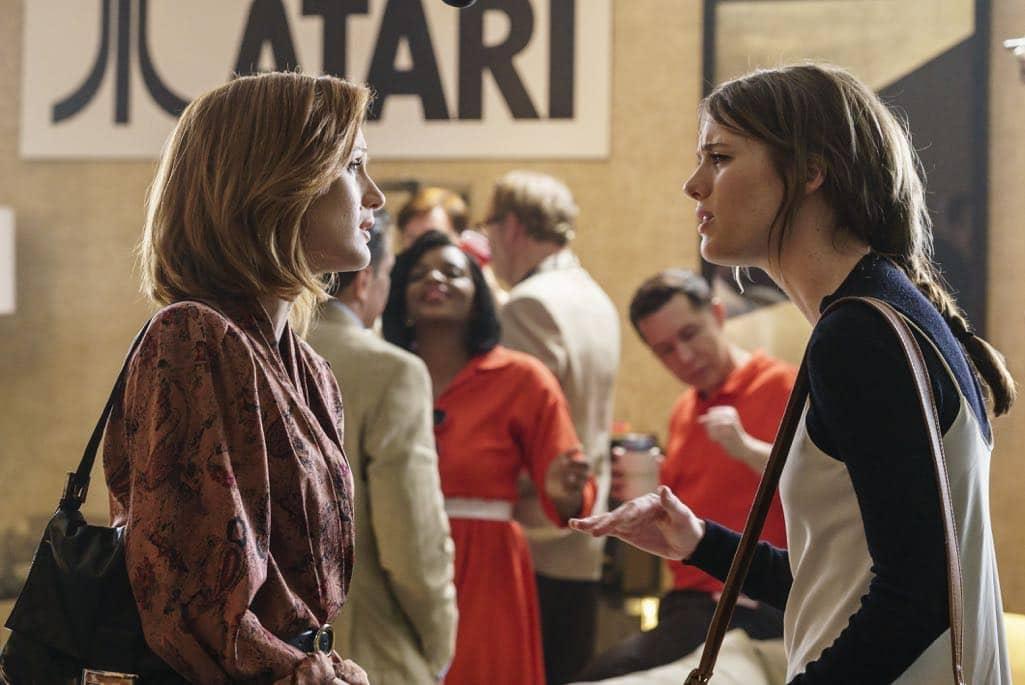 Mackenzie Davis as Cameron Howe, Kerry Bishe as Donna Clark- Halt and Catch Fire _ Season 3, Episode 9 - Photo Credit: Tina Rowden/AMC
