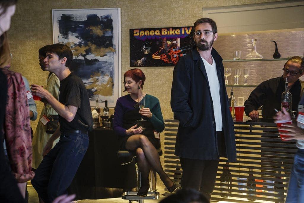 Lee Pace as Joe MacMillan, Mitchell Baker- Halt and Catch Fire _ Season 3, Episode 9 - Photo Credit: Tina Rowden/AMC