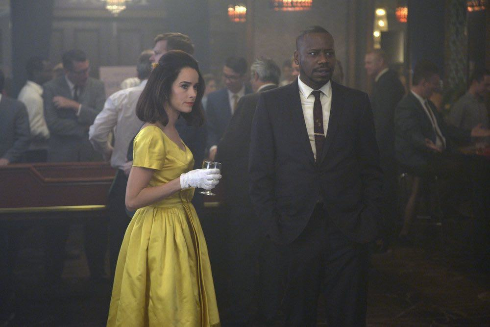 """TIMELESS -- """"Atomic City"""" Episode 102 -- Pictured: (l-r) Abigail Spencer as Lucy Preston, Malcolm Barrett as Rufus Carlin -- (Photo by: Sergei Bachlakov/NBC)"""