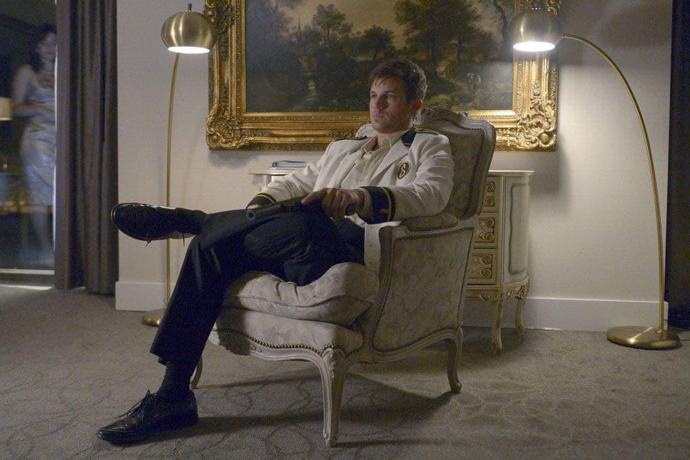 "TIMELESS -- ""Atomic City"" Episode 102 -- Pictured: Matt Lanter as Wyatt Logan -- (Photo by: Sergei Bachlakov/NBC)"