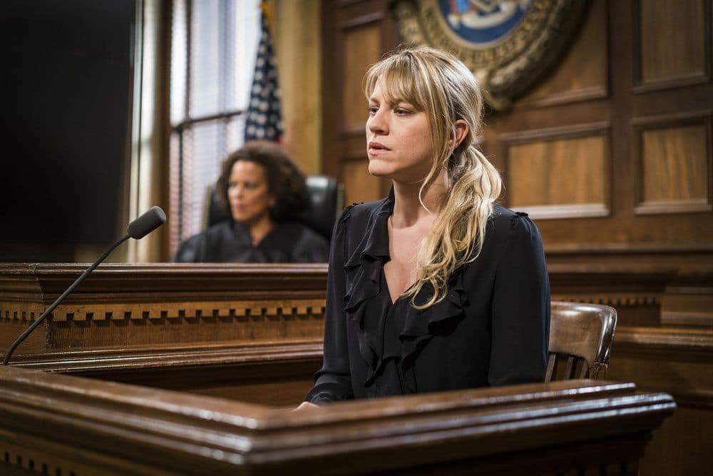 """LAW & ORDER: SPECIAL VICTIMS UNIT -- """"Heightened Emotions"""" Episode 1805 -- Pictured: Brit Morgan as Jenna Miller -- (Photo by: Michael Parmelee/NBC)"""