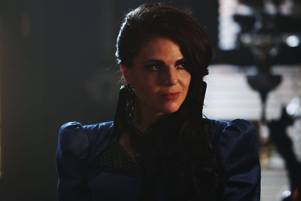 """ONCE UPON A TIME - """"Strange Case"""" - The Evil Queen and Hyde continue on their quest to steal Dr. Jekyll's serum; Snow looks forward to her first day back as a school teacher; and while Emma looks forward to Hook moving in with her, Hook finds himself trying to protect Belle from Mr. Gold, who has made sure she can't leave the confines of the pirate ship.  Meanwhile, back in the past, Rumplestiltskin helps Dr. Jekyll complete his serum to separate a man's personality into two - good and evil - but his help comes with a hefty price, on """"Once Upon a Time,"""" SUNDAY, OCTOBER 16 (8:00-9:00 p.m. EDT), on the ABC Television Network. (ABC/Jack Rowand) LANA PARRILLA"""
