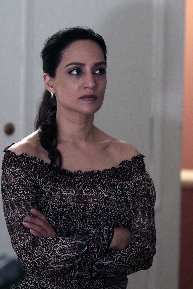 """BLINDSPOT-- """"Her Spy's Mind"""" Episode 206 -- Pictured: Archie Panjabi as Nas Kamal -- (Photo by: Giovanni Ruffino/NBC)"""
