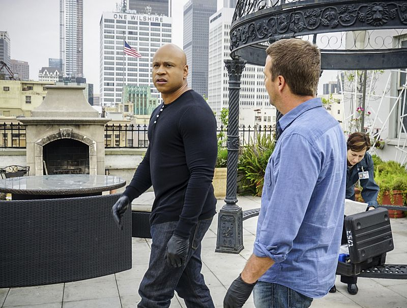 """Ghost Gun"" -- Pictured: LL COOL J (Special Agent Sam Hanna) and Chris O'Donnell (Special Agent G. Callen). The murder of a Navy Machinist with high security clearance sends the team on a city-wide hunt tracking evidence. Also, Anna Kolcheck (Bar Paly) partners with Callen, and Sam assists Hetty in the on-going mole investigation, on NCIS: LOS ANGELES, Sunday, Oct. 23 (8:30-9:30 PM, ET/8:00-9:00 PM, PT), on the CBS Television Network. Photo: Richard Cartwright/CBS ©2016 CBS Broadcasting, Inc. All Rights Reserved."
