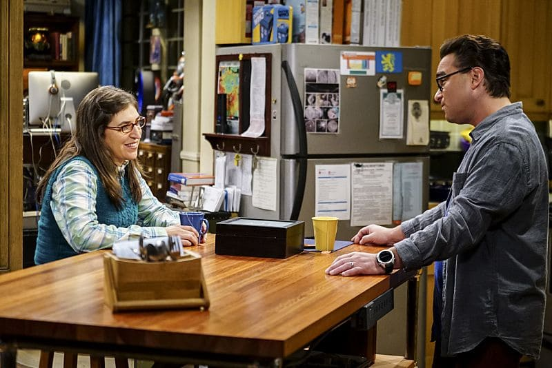"""The Hot Tub Contamination"" -- Pictured: Amy Farrah Fowler (Mayim Bialik) and Leonard Hofstadter (Johnny Galecki). Leonard and Penny must separate a quarreling Sheldon and Amy when their cohabitation does not go as planned, and Sheldon threatens to break off their relationship when Amy refuses to adhere to the bathroom schedule. Also, Howard and Bernadette find unexpected guests at their house when they decide to stay home from a planned vacation, on THE BIG BANG THEORY, Monday, Oct. 17 (8:00-8:31 PM, ET/PT), on the CBS Television Network. Photo: Sonja Flemming/CBS ©2016 CBS Broadcasting, Inc. All Rights Reserved."
