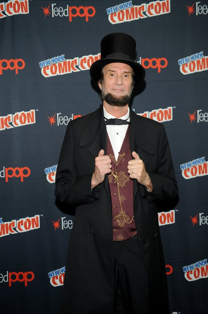 """NEW YORK COMIC CON 2016 -- """"Timeless"""" Press Room -- Pictured: Michael Krebs as Abraham Lincoln on Sunday, October 9, 2016 from the Javits Center in New York, NY -- (Photo by: Brad Barket/NBC)"""