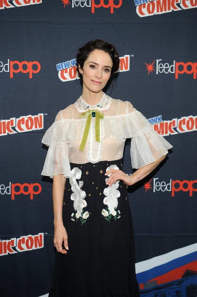 """NEW YORK COMIC CON 2016 -- """"Timeless"""" Press Room -- Pictured: Abigail Spencer on Sunday, October 9, 2016 from the Javits Center in New York, NY -- (Photo by: Brad Barket/NBC)"""