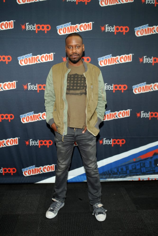 """NEW YORK COMIC CON 2016 -- """"Timeless"""" Press Room -- Pictured: Malcolm Barrett on Sunday, October 9, 2016 from the Javits Center in New York, NY -- (Photo by: Brad Barket/NBC)"""