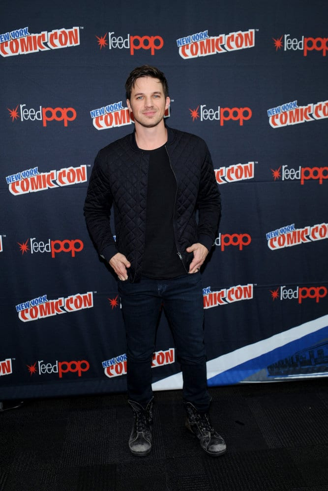 """NEW YORK COMIC CON 2016 -- """"Timeless"""" Press Room -- Pictured: Matt Lanter on Sunday, October 9, 2016 from the Javits Center in New York, NY -- (Photo by: Brad Barket/NBC)"""