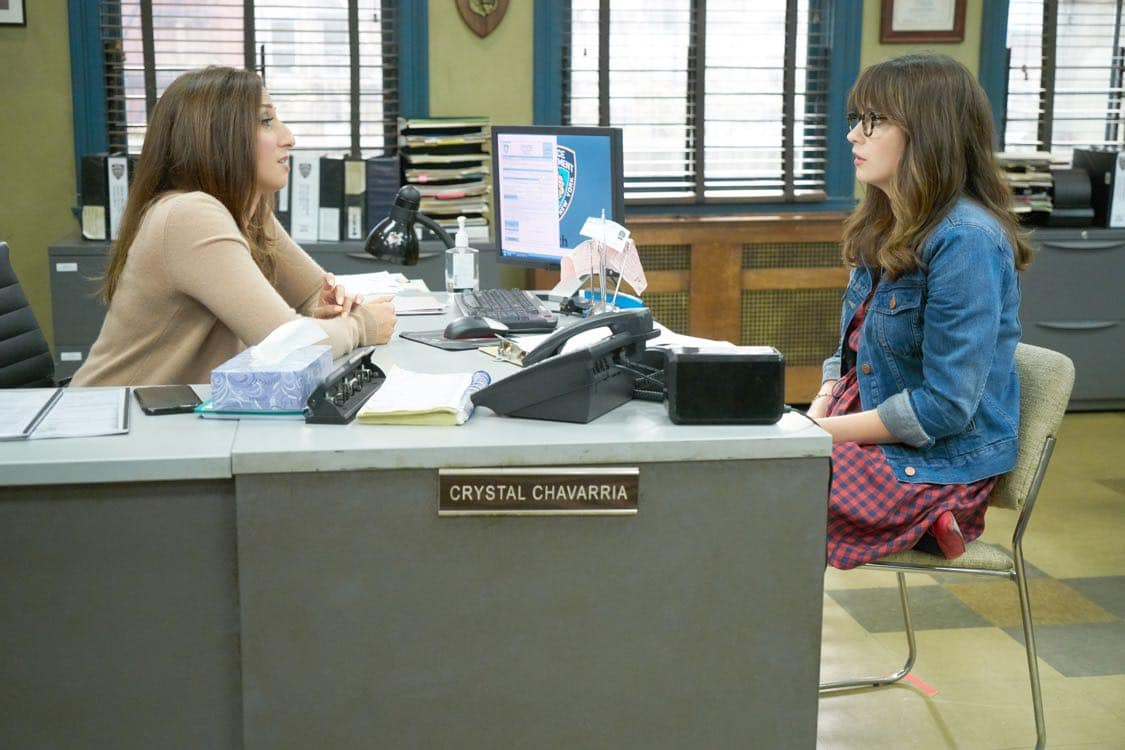 "NEW GIRL: L-R: Guest star Chelsea Peretti and Zooey Deschanel in the special ""Homecoming"" NEW GIRL/BROOKLYN NINE-NINE crossover episode of NEW GIRL airing Tuesday, Oct. 11 (8:31-9:01 PM ET/PT) on FOX. ©2015 Fox Broadcasting Co. Cr: Adam Taylor/FOX"