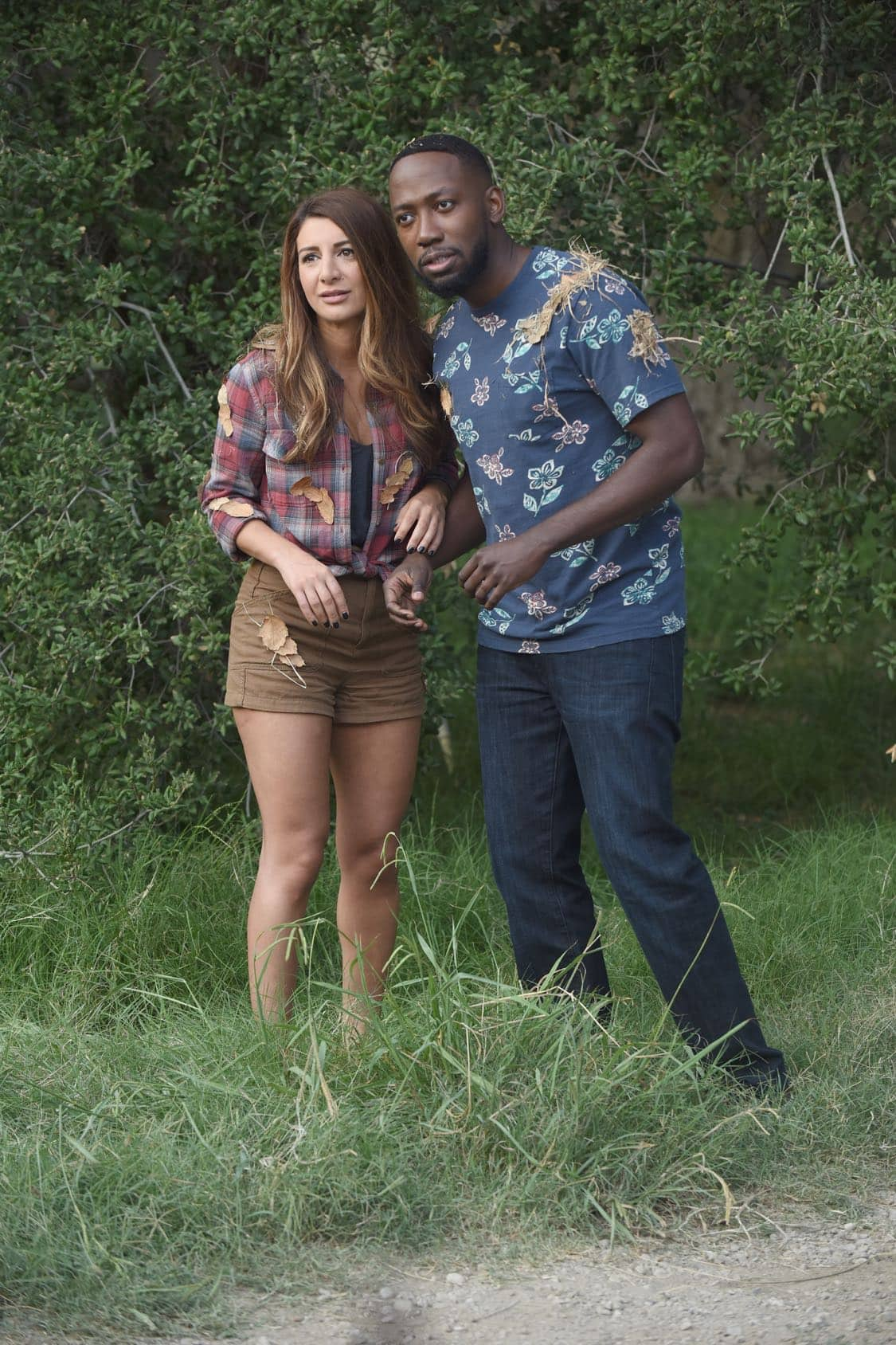 "NEW GIRL: L-R: Guest star Nasim Pedrad and Lamorne Morris in the "" Africa or Retractable S'mores Pole"" episode of NEW GIRL airing Tuesday, Oct. 4 (8:30-9:00 PM ET/PT) on FOX. ©2016 Fox Broadcasting Co. Cr: Ray Mickshaw/FOX"