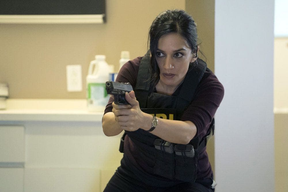 "BLINDSPOT-- ""Condone Untidiest Thefts"" Episode 205 -- Pictured: Archie Panjabi as Nas Kamal -- (Photo by: Peter Kramer/NBC)"
