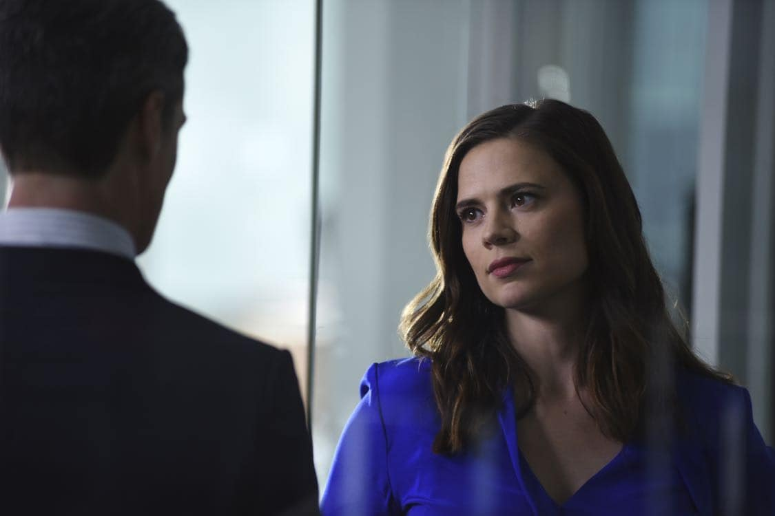"""CONVICTION - """"Bridge & Tunnel Vision"""" – Hayes confronts Wallace head-on, investigating the case that made his career ten years ago: the Prospect 3. Three young white men confessed to the rape and robbery of a young black woman. Hayes hopes to catch Wallace off-guard with the team's investigation, but the complex case serves up a major surprise. When the young woman's character takes a hit in the press during the investigation, she is victimized for a second time, which Hayes takes personally, on """"Conviction,"""" MONDAY, OCTOBER 10 (10:01-11:00 p.m. EDT), on the ABC Television Network. (ABC/John Medland) HAYLEY ATWELL"""