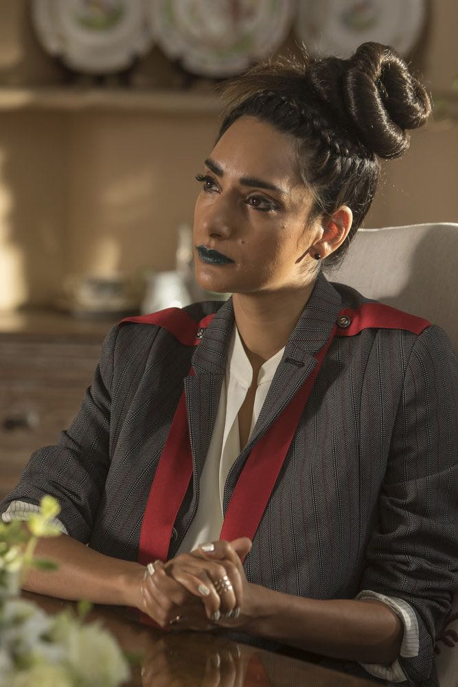"THE GOOD PLACE -- ""Category 55 Emergency Doomsday Crisis"" Episode 109 -- Pictured: Rebecca Hazlewood as Kamilah -- (Photo by: Ron Batzdorff/NBC)"