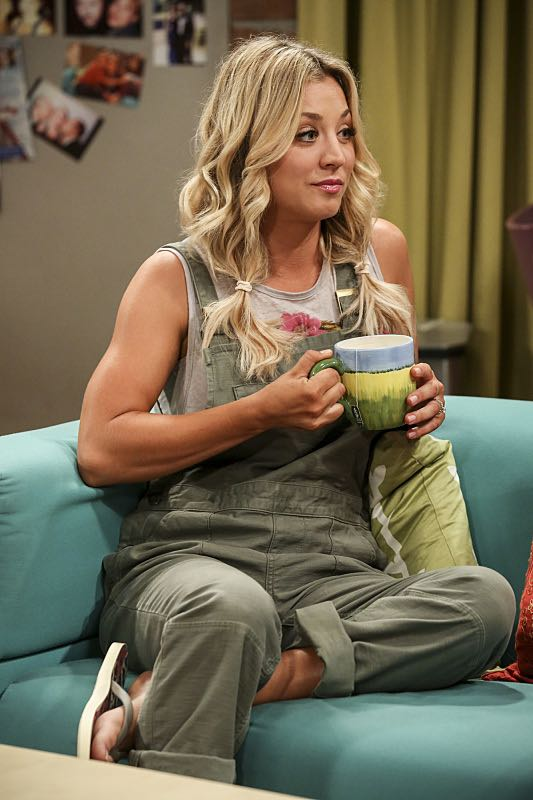 """The Cohabitation Experimentation"" -- Pictured: Penny (Kaley Cuoco). When Amy's apartment floods, she proposes a ""cohabitation experiment"" with Sheldon. Also, Howard and Bernadette are upset when Koothrappali learns the gender of the baby before them, on THE BIG BANG THEORY, Monday, Oct. 10 (8:00-8:31 PM, ET/PT), on the CBS Television Network. Photo: Michael Yarish/Warner Bros. Entertainment Inc. © 2016 WBEI. All rights reserved."