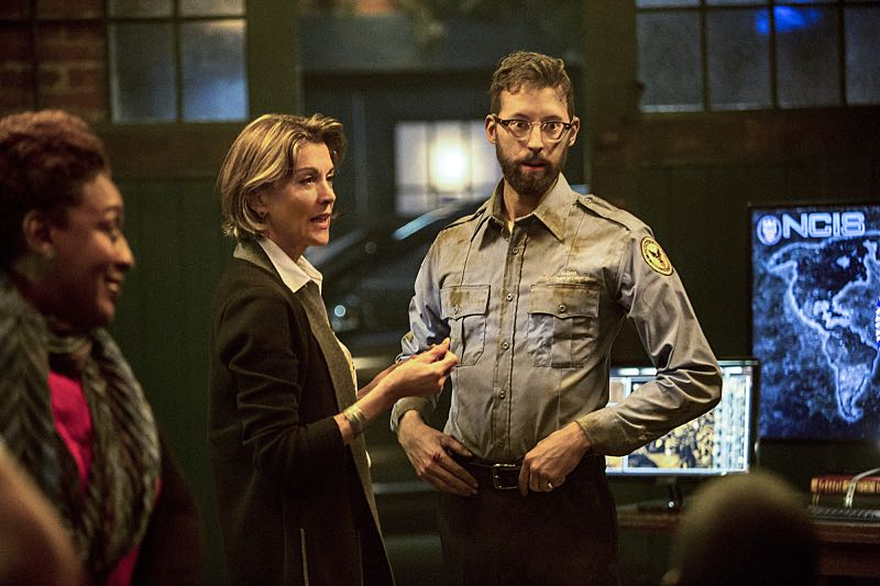 """""""Escape Plan"""" -- The NCIS team must rescue one of their own after Sebastian is kidnapped while at a restaurant with his mother, Sylvia Lund, and forced to use his gaming skills in a prison break, on NCIS: New Orleans, Tuesday, Oct. 18 (10:00-11:00, ET/PT), on the CBS Television Network. Pictured L-R: CCH Pounder as Dr. Loretta Wade, Wendie Malick as Sylvia Lund, and Rob Kerkovich as Sebastian Lund Photo: Skip Bolen/CBS ©2016 CBS Broadcasting, Inc. All Rights Reserved"""