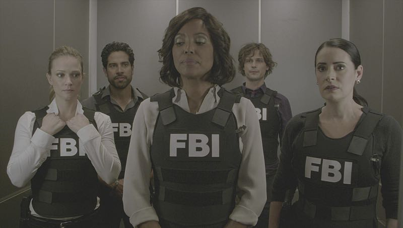 """Mirror Image"" -- The BAU team opens an investigation when a man who fully believes he's Dr. Tara Lewis' (Aisha Tyler) brother arrives in town, knowing everything about her and her family, and she is unable to make contact with her real sibling, on CRIMINAL MINDS, Wednesday, Nov. 30 (9:00-10:00 PM, ET/PT), on the CBS Television Network. Series star Joe Mantegna directed the episode. Pictured: A.J. Cook (Jennifer ""JJ"" Jareau), Adam Rodriguez (Luke Alvez), Aisha Tyler (Dr. Tara Lewis), Matthew Gray Gubler (Dr. Spencer Reid), Paget Brewster (Emily Prentiss) Photo: CBS ©2016 CBS Broadcasting, Inc. All Rights Reserved"