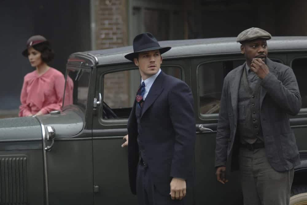 "TIMELESS -- ""Last Ride of Bonnie & Clyde"" Episode 108 -- Pictured: (l-r) Matt Lanter as Wyatt Logan, Malcolm Barrett as Rufus Carlin -- (Photo by: Sergei Bachlakov/NBC)"