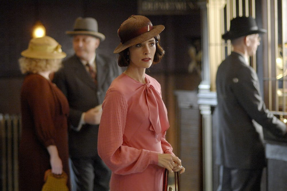 "TIMELESS -- ""Last Ride of Bonnie & Clyde"" Episode 108 -- Pictured: Abigail Spencer as Lucy Preston -- (Photo by: Sergei Bachlakov/NBC)"