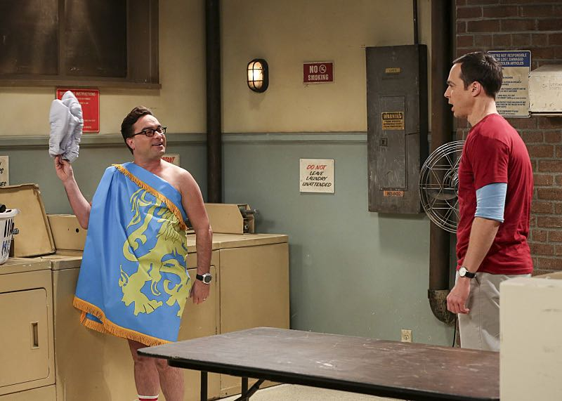 """The Property Division Collision"" -- Pictured: Leonard Hofstadter (Johnny Galecki) and Sheldon Cooper (Jim Parsons). Sheldon and Leonard try to divvy up their shared belongings, but can't agree on anything. Also, Koothrappali and Stuart fight to be the most helpful during Bernadette's final weeks of pregnancy, on THE BIG BANG THEORY, Thursday, Dec. 1 (8:00-8:31 PM, ET/PT), on the CBS Television Network. Christopher Lloyd guest stars as Theodore. Photo: Michael Yarish/Warner Bros. Entertainment Inc. © 2016 WBEI. All rights reserved."