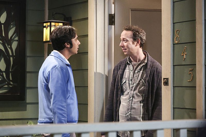 """The Property Division Collision"" -- Pictured: Rajesh Koothrappali (Kunal Nayyar) and Stuart (Kevin Sussman).Sheldon and Leonard try to divvy up their shared belongings, but can't agree on anything. Also, Koothrappali and Stuart fight to be the most helpful during Bernadette's final weeks of pregnancy, on THE BIG BANG THEORY, Thursday, Dec. 1 (8:00-8:31 PM, ET/PT), on the CBS Television Network. Christopher Lloyd guest stars as Theodore. Photo: Michael Yarish/Warner Bros. Entertainment Inc. © 2016 WBEI. All rights reserved."