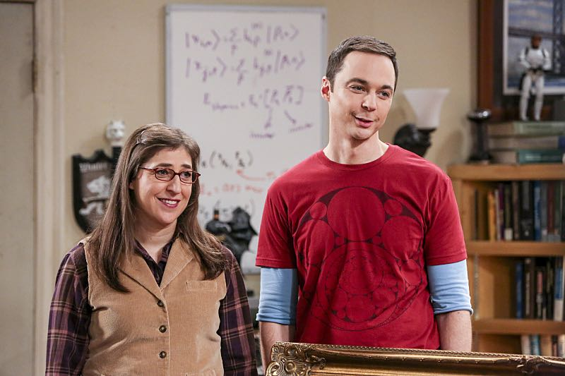 """The Property Division Collision"" -- Pictured: Amy Farrah Fowler (Mayim Bialik) and Sheldon Cooper (Jim Parsons). Sheldon and Leonard try to divvy up their shared belongings, but can't agree on anything. Also, Koothrappali and Stuart fight to be the most helpful during Bernadette's final weeks of pregnancy, on THE BIG BANG THEORY, Thursday, Dec. 1 (8:00-8:31 PM, ET/PT), on the CBS Television Network. Christopher Lloyd guest stars as Theodore. Photo: Michael Yarish/Warner Bros. Entertainment Inc. © 2016 WBEI. All rights reserved."