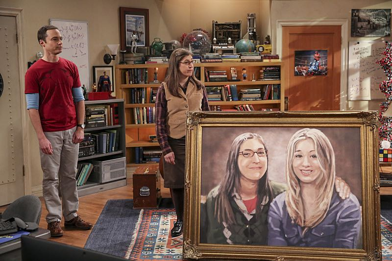 """""""The Property Division Collision"""" -- Pictured: Sheldon Cooper (Jim Parsons) and Amy Farrah Fowler (Mayim Bialik). Sheldon and Leonard try to divvy up their shared belongings, but can't agree on anything. Also, Koothrappali and Stuart fight to be the most helpful during Bernadette's final weeks of pregnancy, on THE BIG BANG THEORY, Thursday, Dec. 1 (8:00-8:31 PM, ET/PT), on the CBS Television Network. Christopher Lloyd guest stars as Theodore. Photo: Michael Yarish/Warner Bros. Entertainment Inc. © 2016 WBEI. All rights reserved."""