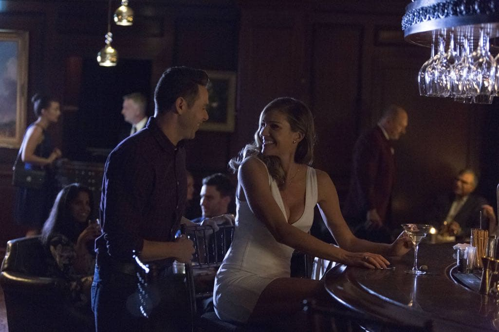 "LUCIFER: L-R: Kevin Alejandro and Tricia Helfer in the ""Homewrecker"" episode of LUCIFER airing Monday, Nov. 21 (9:01-10:00 PM ET/PT) on FOX. ©2016 Fox Broadcasting Co. Cr: Michael Courtney/FOX."