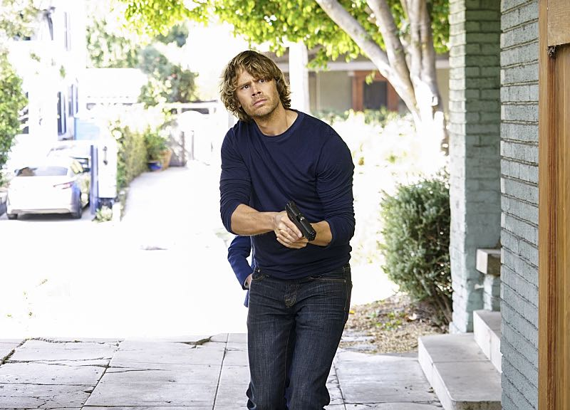 """Sirens"" -- Pictured: Eric Christian Olsen (LAPD Liaison Marty Deeks). After an unknown female assailant kills two men disguised as Sherriff's deputies in front of Callen's home, the NCIS team gets a new lead in the ongoing mole investigation. Also, Nell visits a prison to interview an inmate withholding information on the department's leak, on NCIS: LOS ANGELES, Sunday, Nov. 27 (8:30-9:30 PM, ET/8:00-9:00 PM, PT), on the CBS Television Network. Photo: Sonja Flemming/CBS ©2016 CBS Broadcasting, Inc. All Rights Reserved."