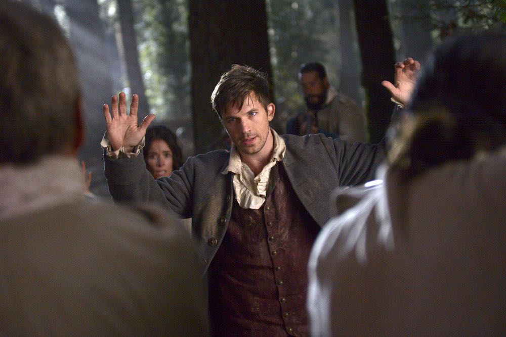 "TIMELESS -- ""Stranded"" Episode 106 -- Pictured: Matt Lanter as Wyatt Logan -- (Photo by: Sergei Bachlakov/NBC)"