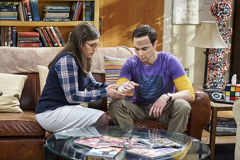 """The Geology Elevation"" -- Pictured: Amy Farrah Fowler (Mayim Bialik) and Sheldon Cooper (Jim Parsons). When Bert (Brian Posehn), a Caltech geologist, wins the MacArthur Genius fellowship, Sheldon is overcome with jealousy. Also, Wolowitz finds an old remote control Stephen Hawking action figure he invented, on THE BIG BANG THEORY, Thursday, Nov. 17 (8:00-8:31 PM, ET/PT), on the CBS Television Network. Stephen Hawking returns to guest star as himself. Photo: Monty Brinton/CBS ©2016 CBS Broadcasting, Inc. All Rights Reserved."
