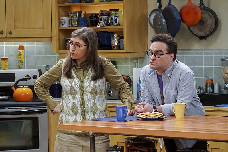 """The Geology Elevation"" -- Pictured: Amy Farrah Fowler (Mayim Bialik) and Leonard Hofstadter (Johnny Galecki). When Bert (Brian Posehn), a Caltech geologist, wins the MacArthur Genius fellowship, Sheldon is overcome with jealousy. Also, Wolowitz finds an old remote control Stephen Hawking action figure he invented, on THE BIG BANG THEORY, Thursday, Nov. 17 (8:00-8:31 PM, ET/PT), on the CBS Television Network. Stephen Hawking returns to guest star as himself. Photo: Monty Brinton/CBS ©2016 CBS Broadcasting, Inc. All Rights Reserved."