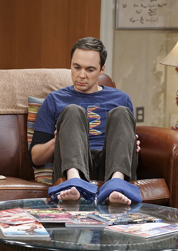 """The Geology Elevation"" -- Pictured: Sheldon Cooper (Jim Parsons). When Bert (Brian Posehn), a Caltech geologist, wins the MacArthur Genius fellowship, Sheldon is overcome with jealousy. Also, Wolowitz finds an old remote control Stephen Hawking action figure he invented, on THE BIG BANG THEORY, Thursday, Nov. 17 (8:00-8:31 PM, ET/PT), on the CBS Television Network. Stephen Hawking returns to guest star as himself. Photo: Monty Brinton/CBS ©2016 CBS Broadcasting, Inc. All Rights Reserved."
