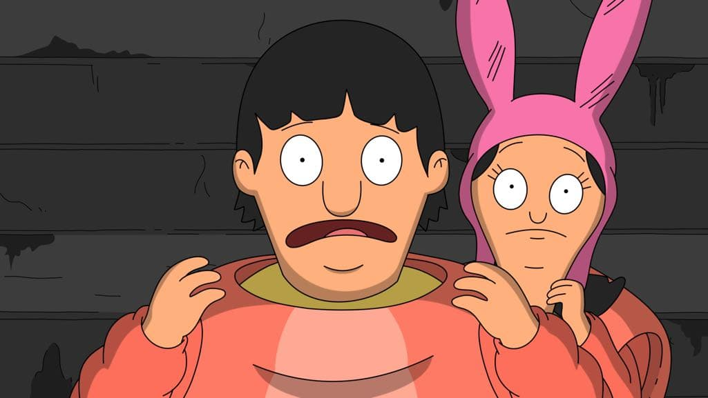 "BOB'S BURGERS: Gene and Louise find themselves in a sticky situation in the ""Large Brother, Where Fart Though?"" episode of BOB'S BURGERS airing Sunday, Nov. 20 (7:30-8:00 PM ET/PT) on FOX. BOB'S BURGERS ™ and © 2016 TCFFC ALL RIGHTS RESERVED. CR: FOX"