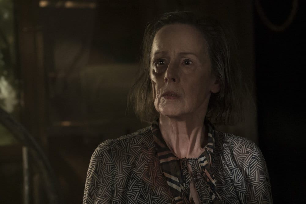 "THE BLACKLIST -- ""Dr. Adrian Shaw (#98): Conclusion"" Episode 408 -- Pictured: Susan Blommaert as Mr. Kaplan -- (Photo by: Virginia Sherwood/NBC)"