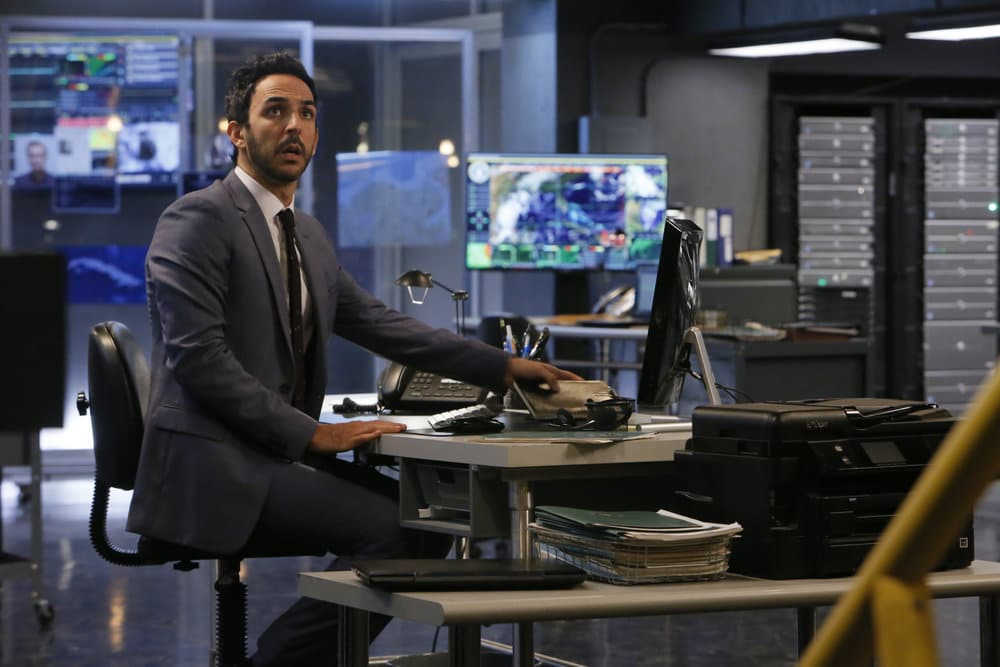 "THE BLACKLIST -- ""Dr. Adrian Shaw (#98): Conclusion"" Episode 408 -- Pictured: Amir Arison as Aram Mojtabai -- (Photo by: Will Hart/NBC)"