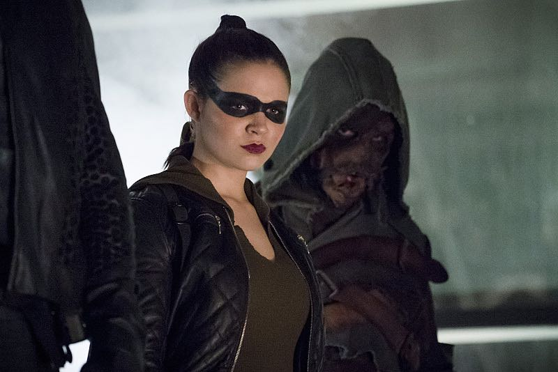 "Arrow -- ""So It Begins"" -- Image AR506b_0083b.jpg -- Pictured (L-R): Madison McLaughlin as Evelyn Sharp/Artemis and Joe Dinicol as Rory Regan/Ragman -- Photo: Katie Yu/The CW -- © 2016 The CW Network, LLC. All Rights Reserved."