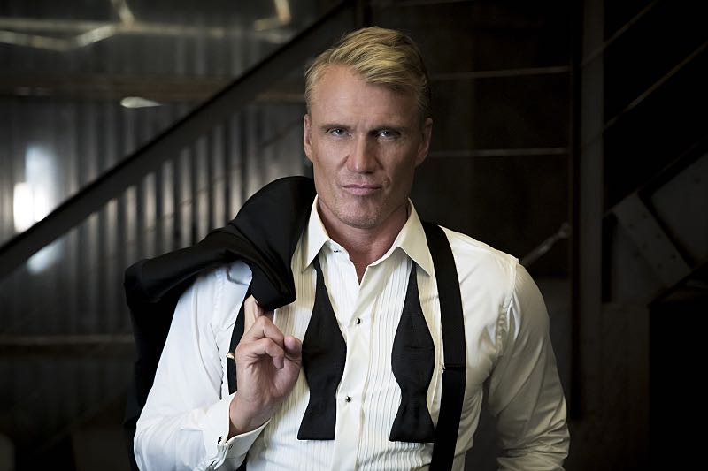 "Arrow -- ""So It Begins"" -- Image AR506a_BTS_0246b.jpg -- Pictured: Dolph Lundgren as Konstantin Kovar -- Photo: Katie Yu/The CW -- © 2016 The CW Network, LLC. All Rights Reserved."