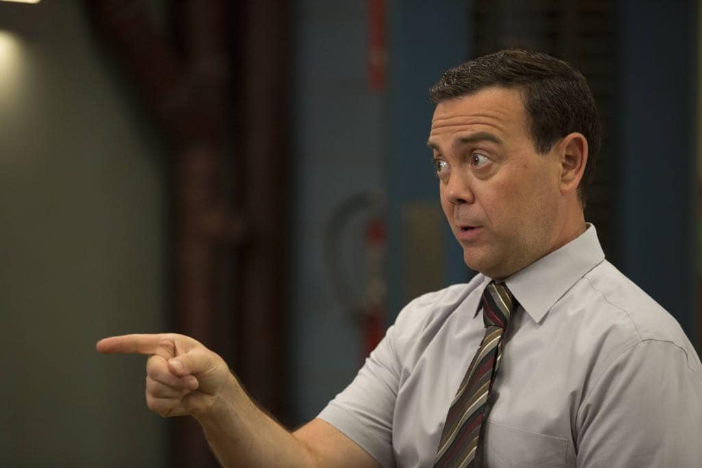 "BROOKLYN NINE-NINE: Joe Lo Truglio in the ""Skyfire Cycle"" episode of BROOKLYN NINE-NINE airing Tuesday, Nov. 1 (8:00-8:31 PM ET/PT) on FOX. CR: John P Fleenor/FOX"