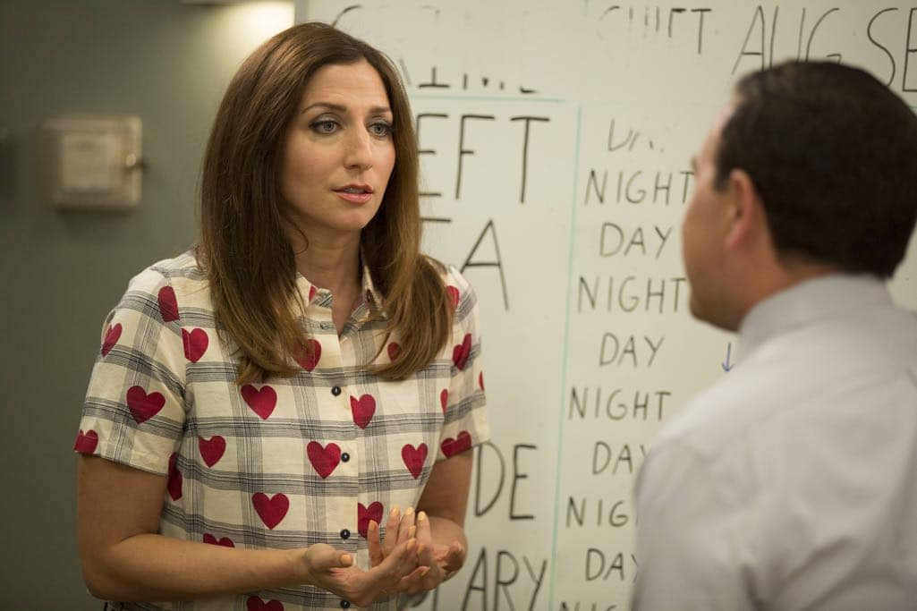 "BROOKLYN NINE-NINE: Chelsea Peretti in the ""Skyfire Cycle"" episode of BROOKLYN NINE-NINE airing Tuesday, Nov. 1 (8:00-8:31 PM ET/PT) on FOX. CR: John P Fleenor/FOX"