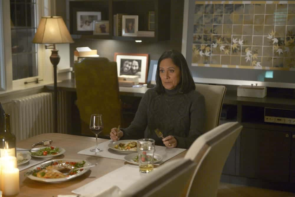 "TIMELESS -- ""The Capture of Benedict Arnold"" Episode 109 -- Pictured: Sakina Jaffrey as Agent Denise Christopher -- (Photo by: Sergei Bachlakov/NBC)"