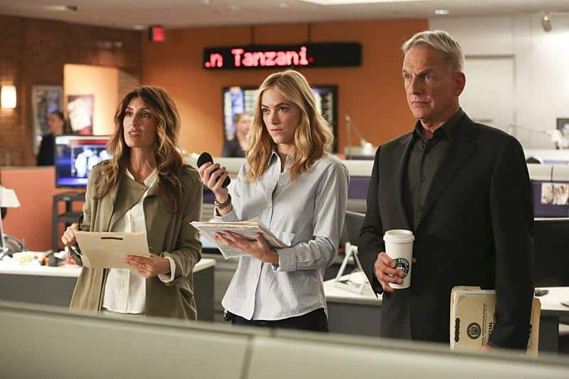 """Pay to Play"" -- The NCIS team investigates a series of escalating threats against congresswoman Jenna Flemming (Mary Stuart Masterson), while Director Vance oversees temporary protection detail, on NCIS, Tuesday, Nov. 15 (8:00-9:00 PM, ET/PT), on the CBS Television Network. Pictured: Jennifer Esposito, Wilmer Valderrama. Photo: Michael Yarish/CBS ©2016 CBS Broadcasting, Inc. All Rights Reserved"
