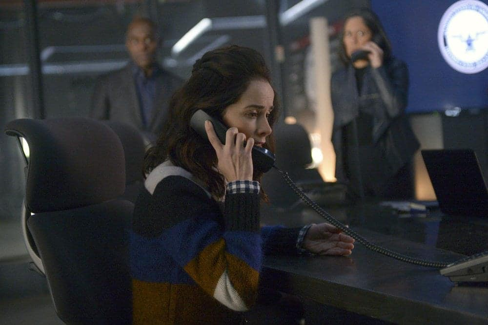 "TIMELESS -- ""Karma Chameleon"" Episode 113 -- Pictured: Abigail Spencer as Lucy Preston"