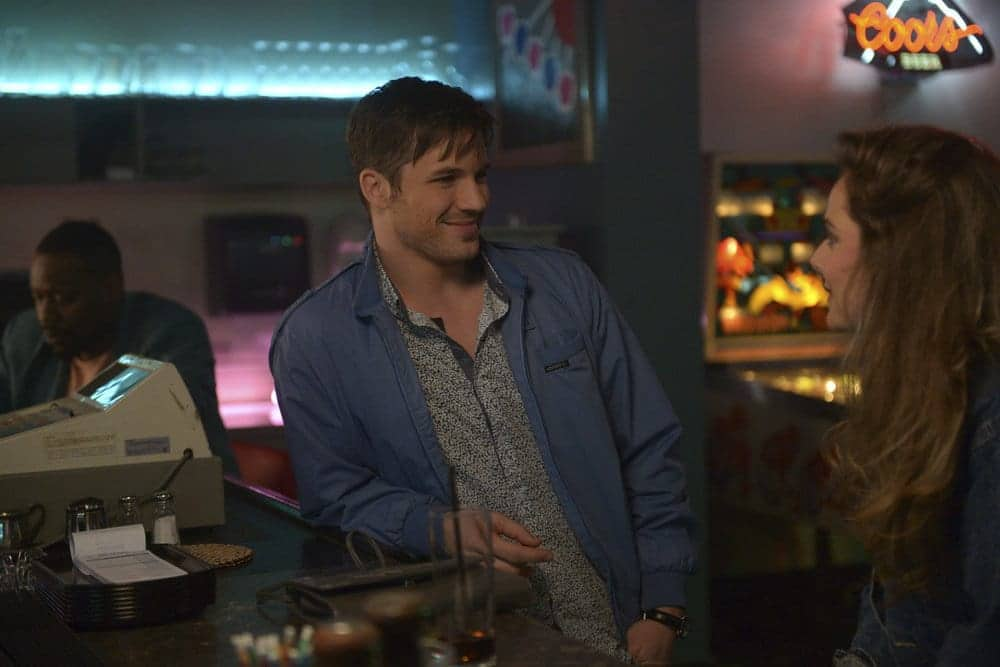 "TIMELESS -- ""Karma Chameleon"" Episode 113 -- Pictured: Matt Lanter as Wyatt Logan"