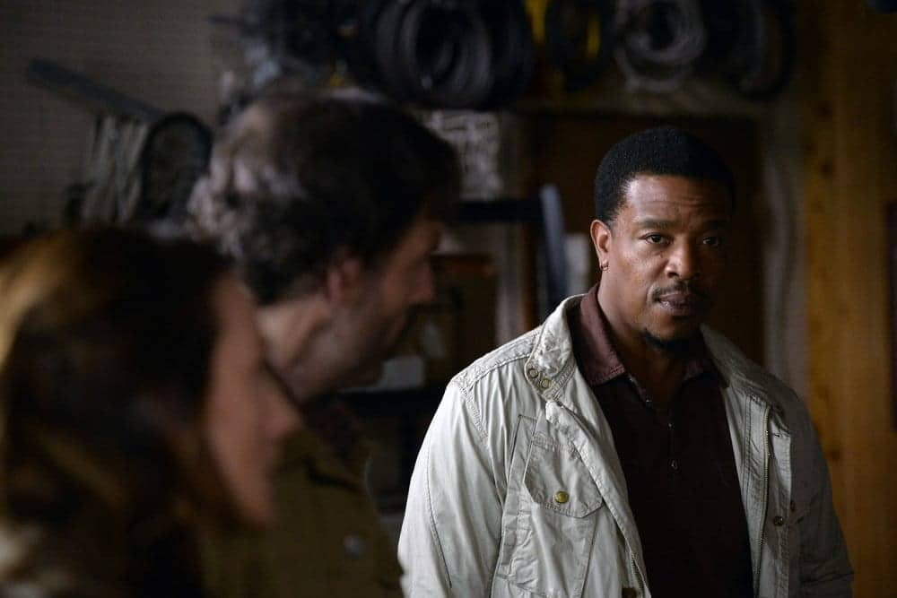 "GRIMM -- ""Fugitive"" Episode 601 -- Pictured: Russell Hornsby as Hank Griffin"