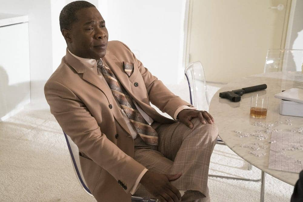 """THE BLACKLIST -- """"The Forecaster: #163"""" Episode 410 -- Pictured: Michael Potts as Iniko -- (Photo by: Virginia Sherwood/NBC)"""
