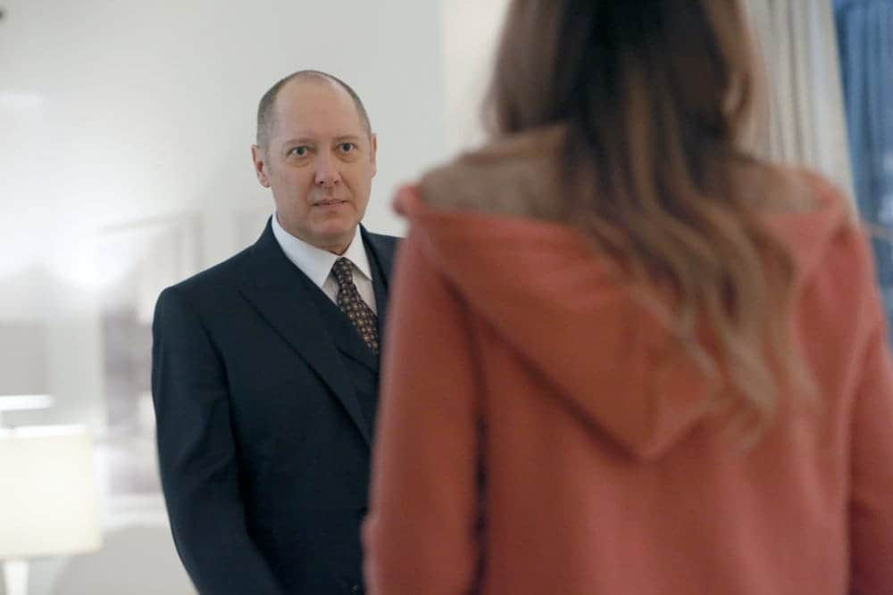 "THE BLACKLIST -- ""The Forecaster: #163"" Episode 410 -- Pictured: James Spader as Raymond ""Red"" Reddington -- (Photo by: Will Hart/NBC)"