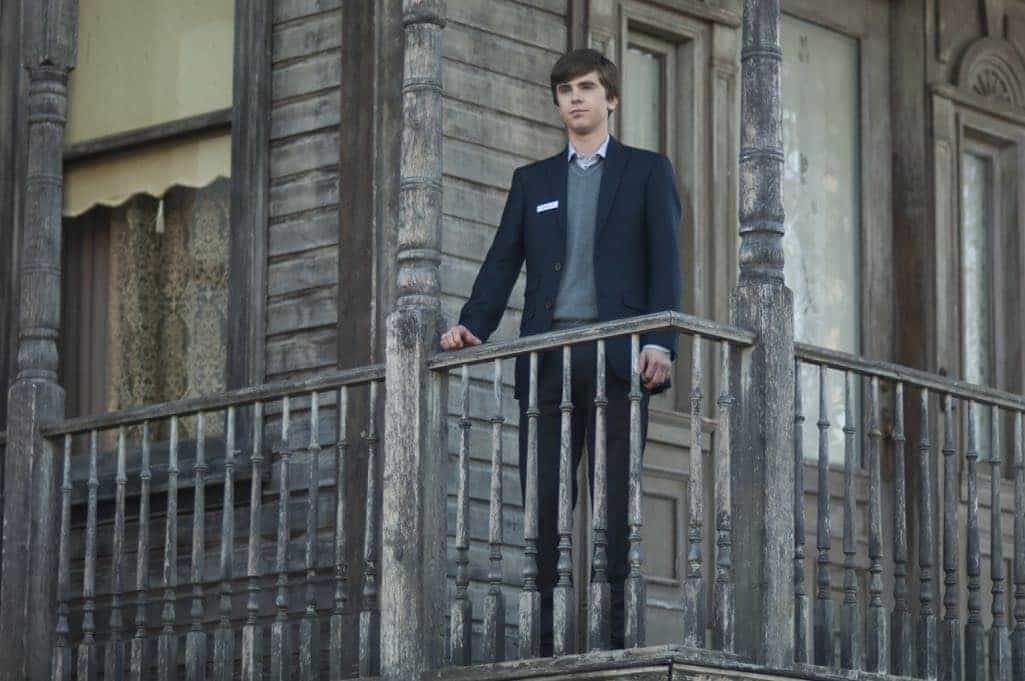 "Freddie Highmore stars as Norman Bates in A&E's ""Bates Motel."" Photo by Sergei Bachlakov Copyright 2017"